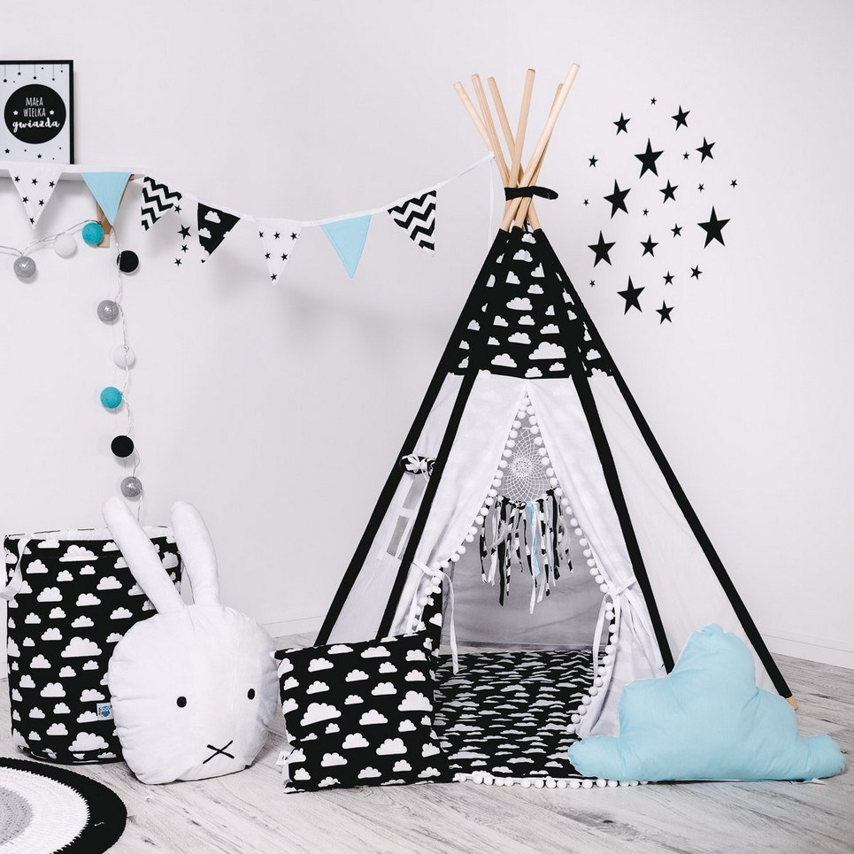 Child's Teepee Set Oval Cloud