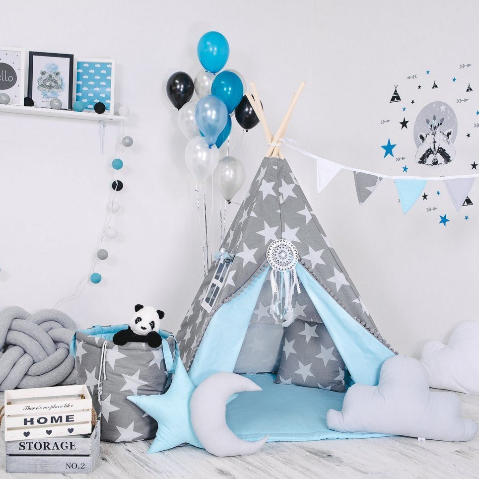 Child's Teepee Set Star In The Sky