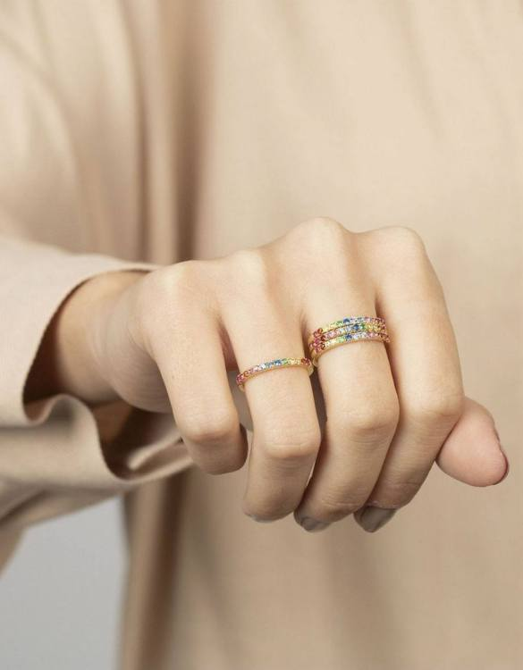 A truly luxurious gift for a friend, or a special treat for yourself, the Multicolor Gold Ring is a cool way to show a little love. It would be a perfect anniversary, Christmas or birthday gift.