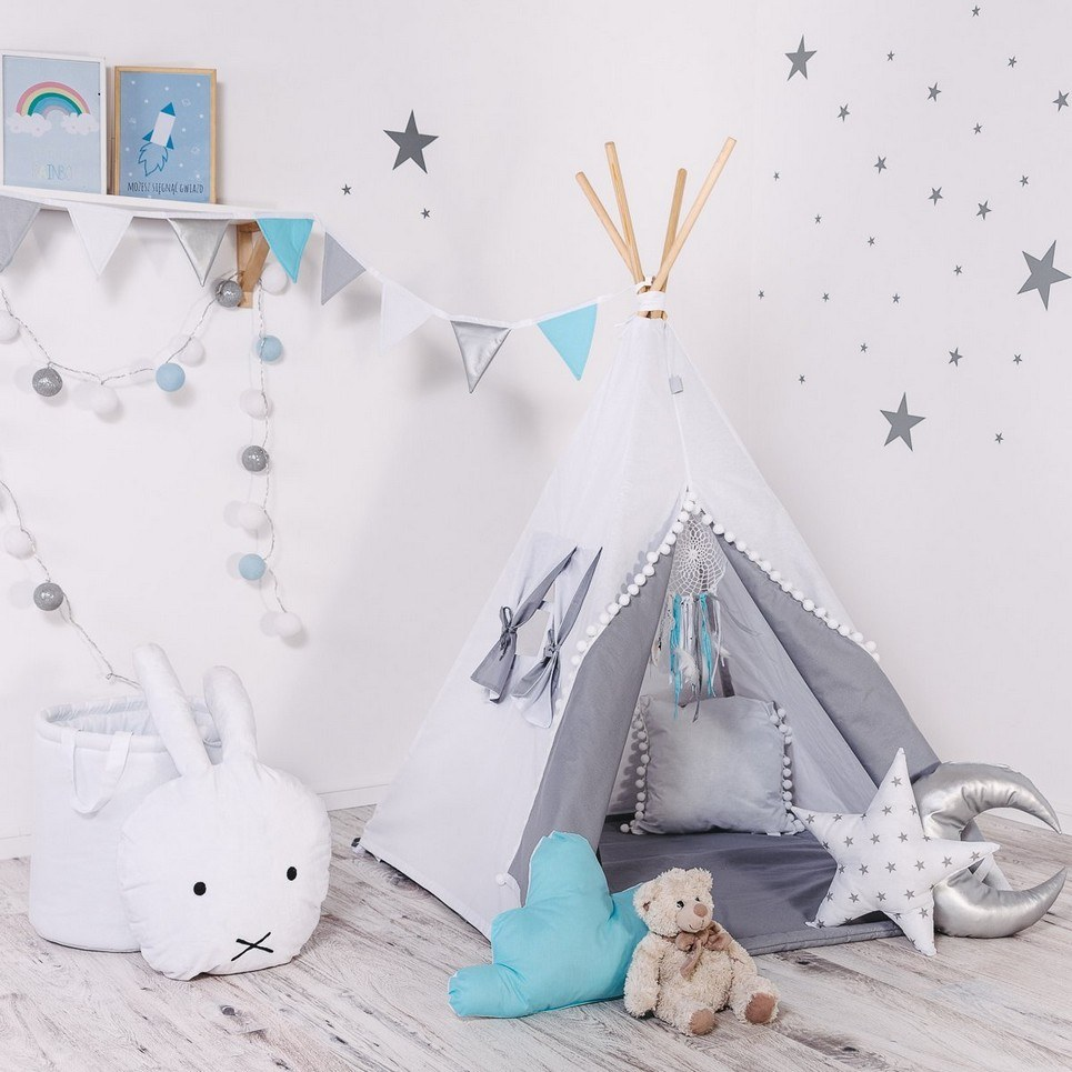 Child's Teepee Set White Angel