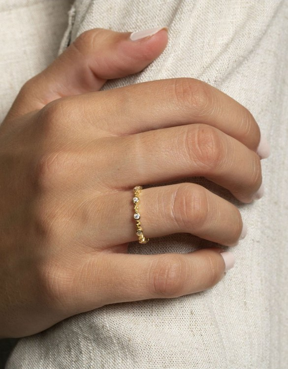 A truly luxurious gift for a friend, or a special treat for yourself, the Belair Gold Ring is a cool way to show a little love. It would be a perfect anniversary, Christmas or birthday gift.