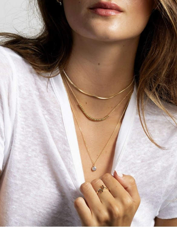 With a sleek, minimal and contemporary design, the Willow Gold Necklace is the perfect everyday accessory for effortless elegance. This special sterling silver necklace has been designed to represent happiness, so whoever wears can be set on the path to joy.