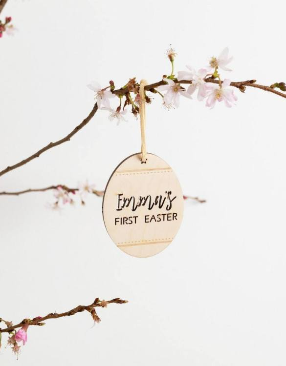 A detailed hanging decoration for Easter, the My First Easter Patterned Egg Hanging Decoration that everyone will love to keep. Ideal as a way of marking the spring season, these personalised Easter decorations are great accessories for your celebration.