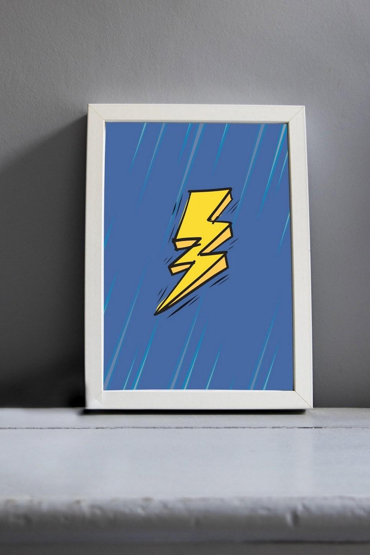 Lightening Bolt Nursery Print