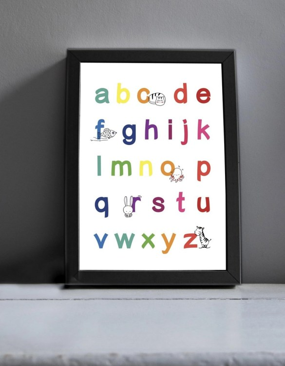 Brighten up your home with the My ABC Nursery Print. Amaze a little 'super hero' with this fabulous modern art print, lovingly made just for him.