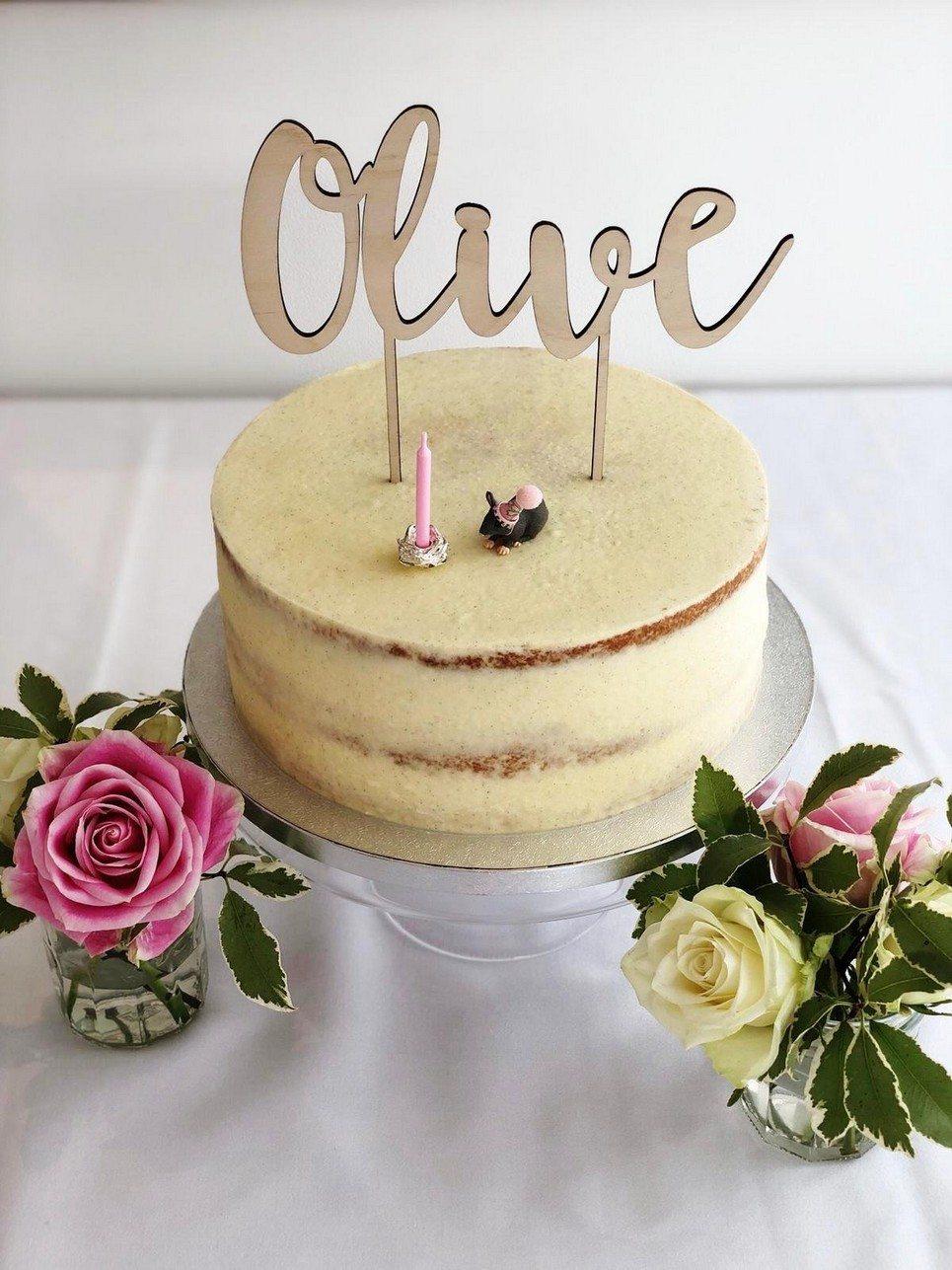 Single Name Cake Topper