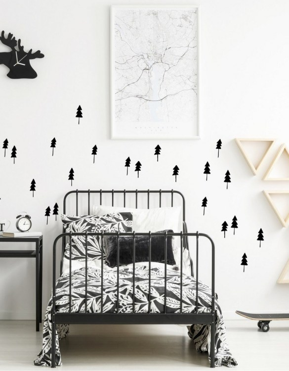 A simple and contemporary gift, the Tree Wall Stickers is the perfect finishing touch to a baby's nursery or little girl's nursery bedroom or playroom.