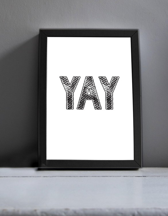 Brighten up your home with the Yay Modern Art Print. Amaze a little 'super hero' with this fabulous modern art print, lovingly made just for him.