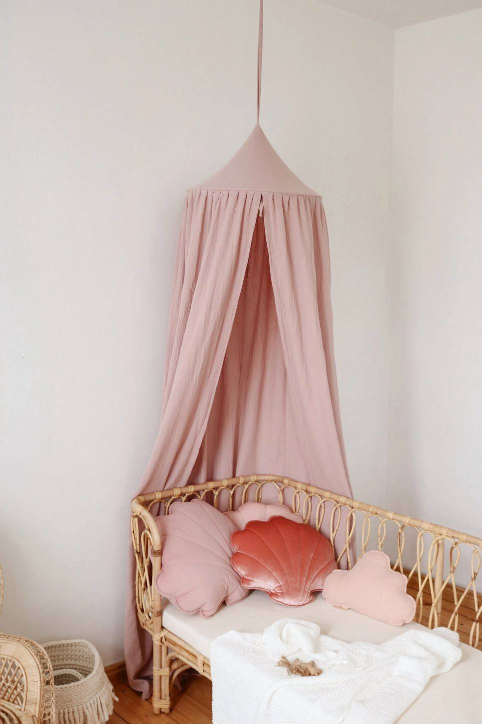 Baby Pink Children's Bed Canopy