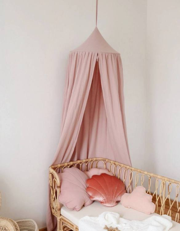 Create a safe fairytale-like environment for little ones with the Baby Pink Children's Bed Canopy. This canopy will suspend neatly above your child's bed or in the corner of room decoration for a baby, to create the perfect space for reading and playing.