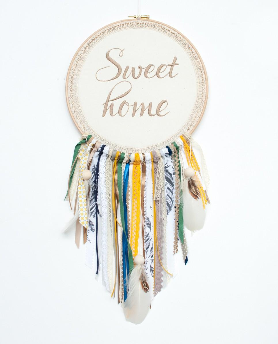 Beige Sweet Home Handmade Dream Catcher