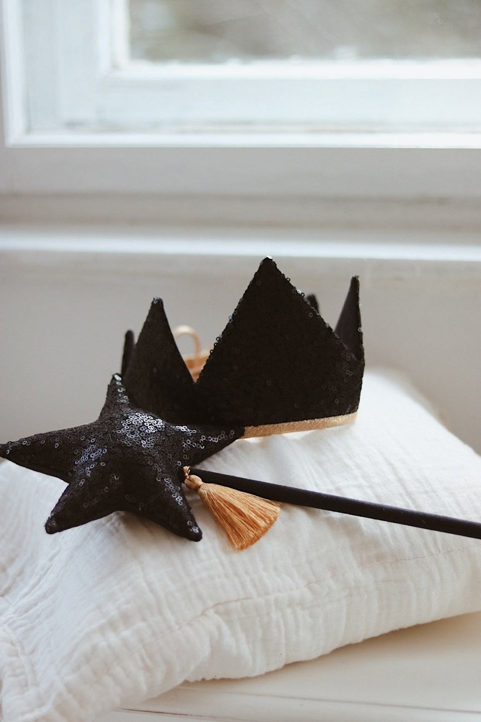 Black Sequins Children's Crown
