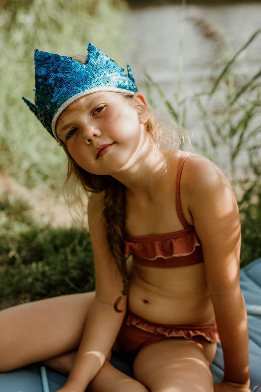 Blue Sequins Children's Crown