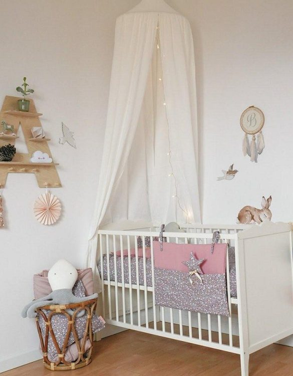Create a safe fairytale-like environment for little ones with the Cream Children's Bed Canopy. This canopy will suspend neatly above your child's bed or in the corner of room decoration for a baby, to create the perfect space for reading and playing.