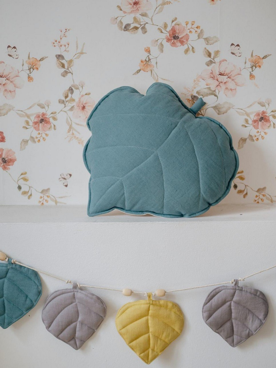 Eye Of The Sea Linen Leaf Cushion