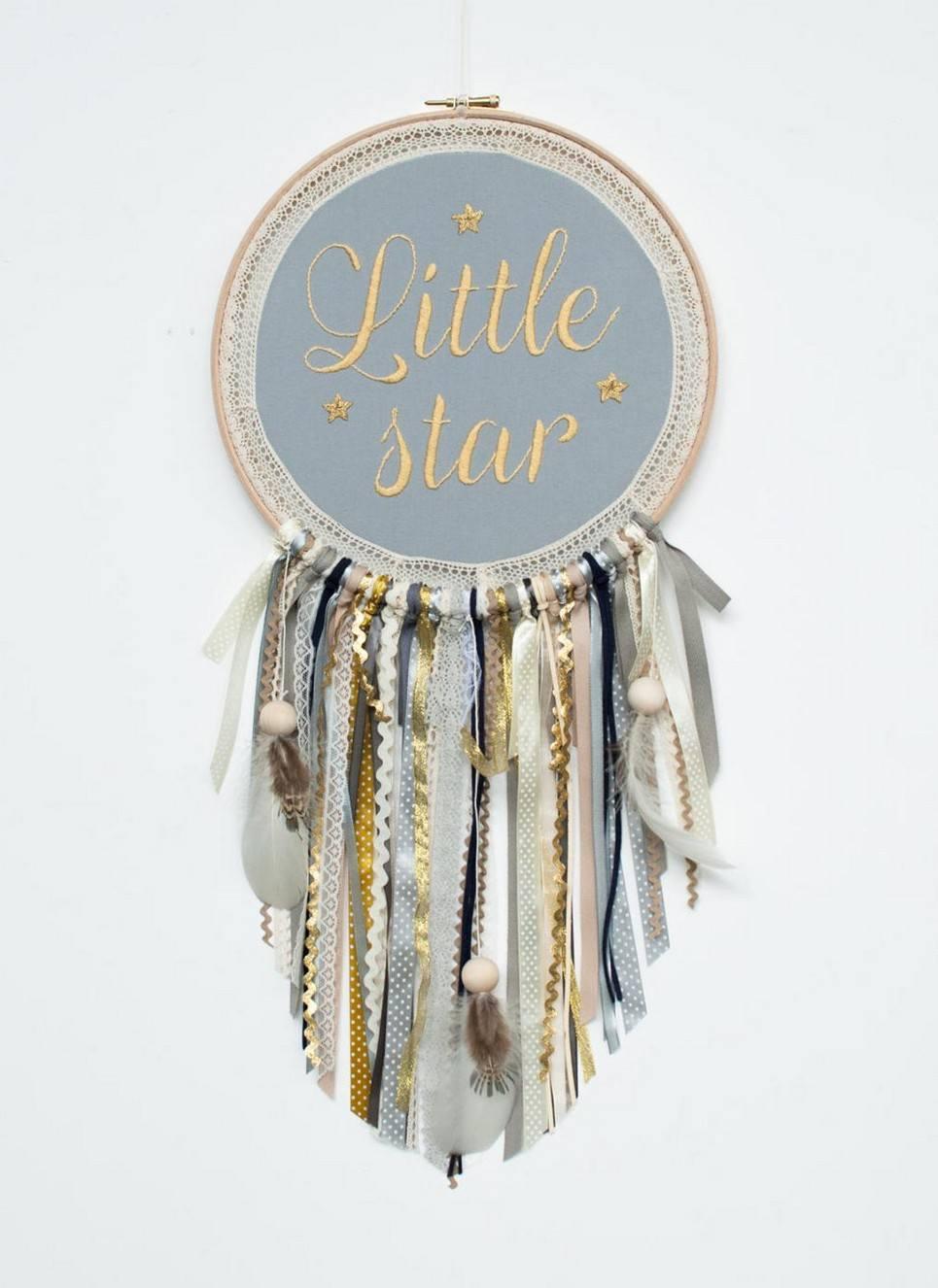 Gold Little Star Handmade Dream Catcher