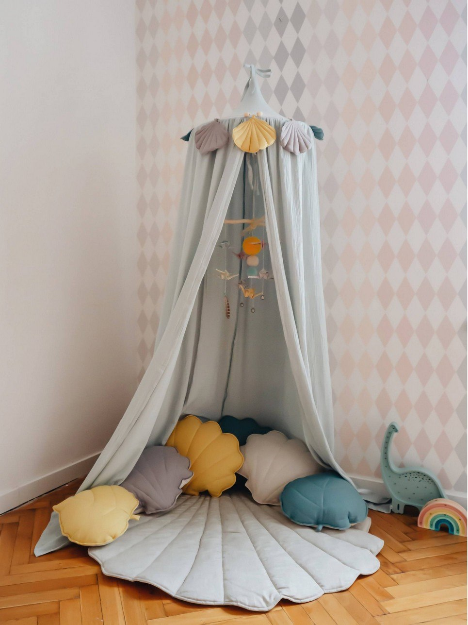 Mint Children's Bed Canopy