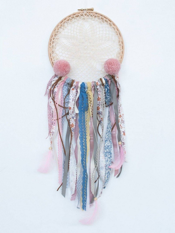 Pink Clouds Handmade Dream Catcher