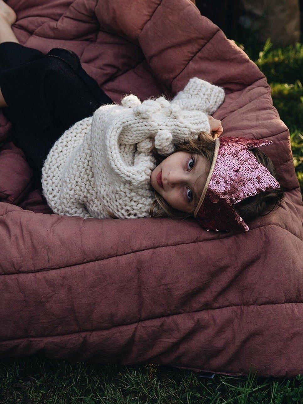 Pink Sequins Children's Crown