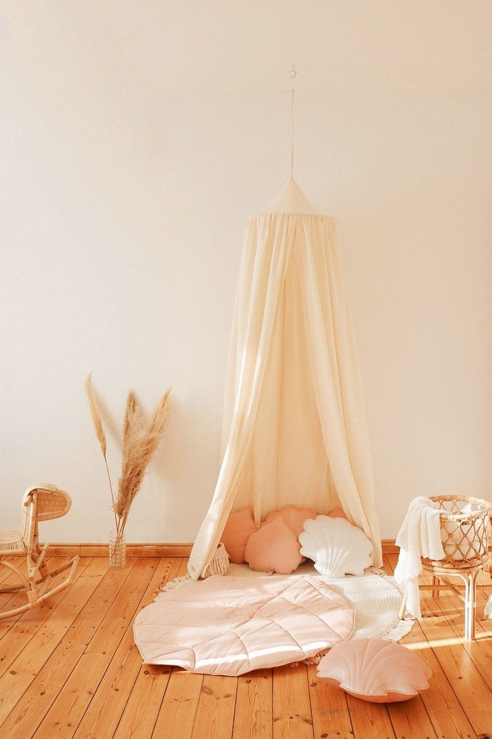 Raw Cotton Children's Bed Canopy