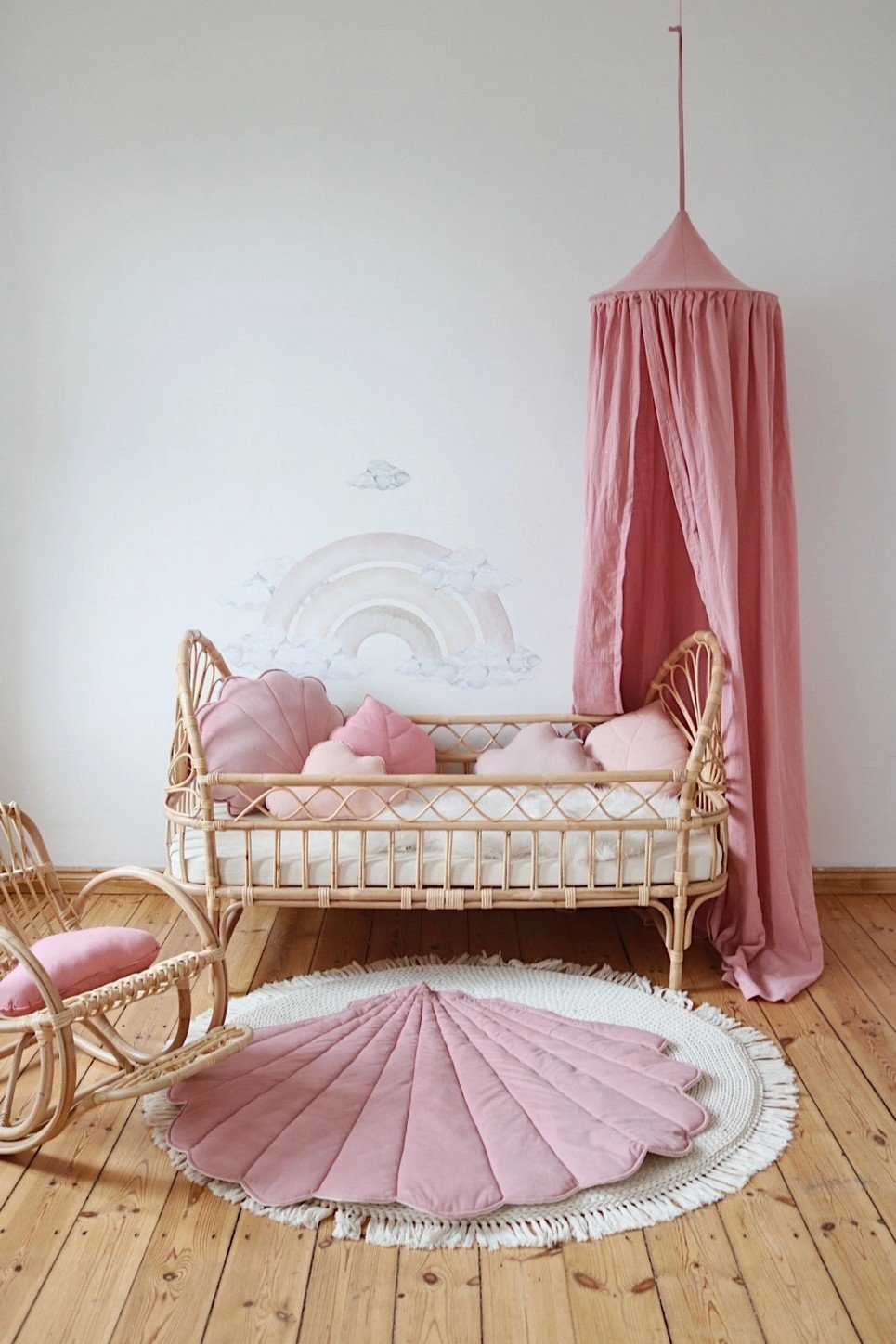 Soft Pink Children's Bed Canopy