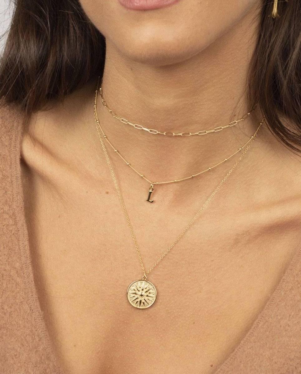 Sun Medallion Gold Necklace