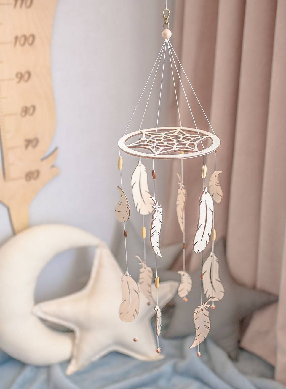 Baby Shower Wooden Baby Mobile