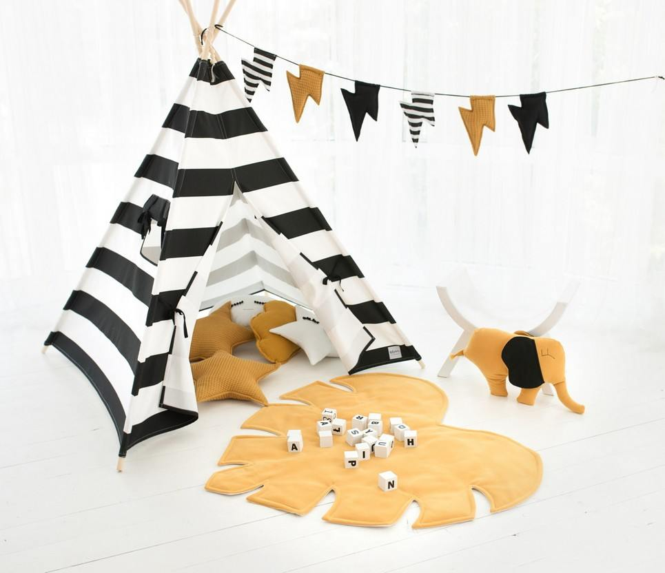 Black Stripes Children's Play Teepee