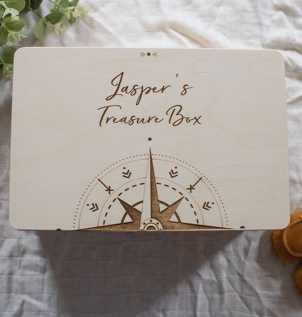 Compass Personalised Baby Memory Box – 1