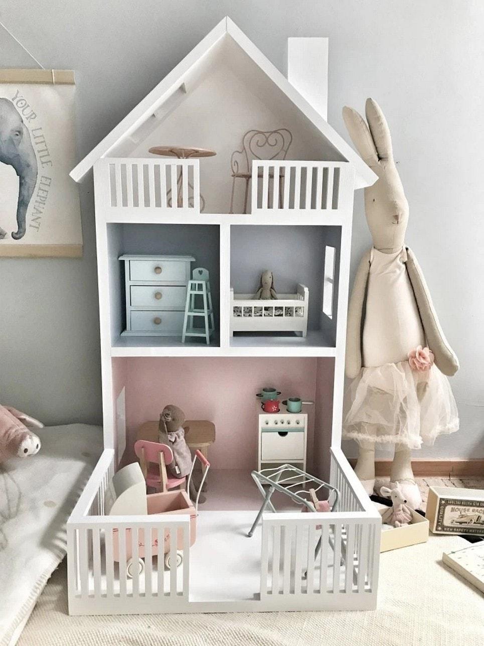 Doll's House Terrace Shape Shelf Unit-min