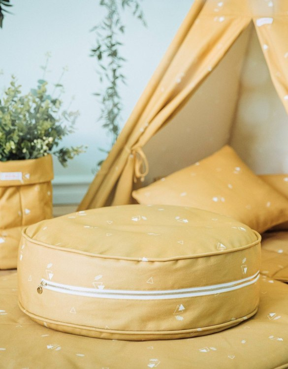 A stunning addition to a children's bedroom, the Honey Mustard Children's Ottoman will instantly lift and create interest in any room in your home. A beautiful small ottoman stool, also perfect as a foot stool in a magical nursery theme.