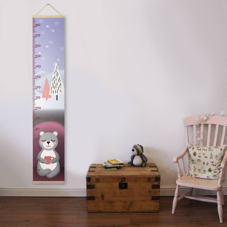 Personalised Bear Child Growth Chart