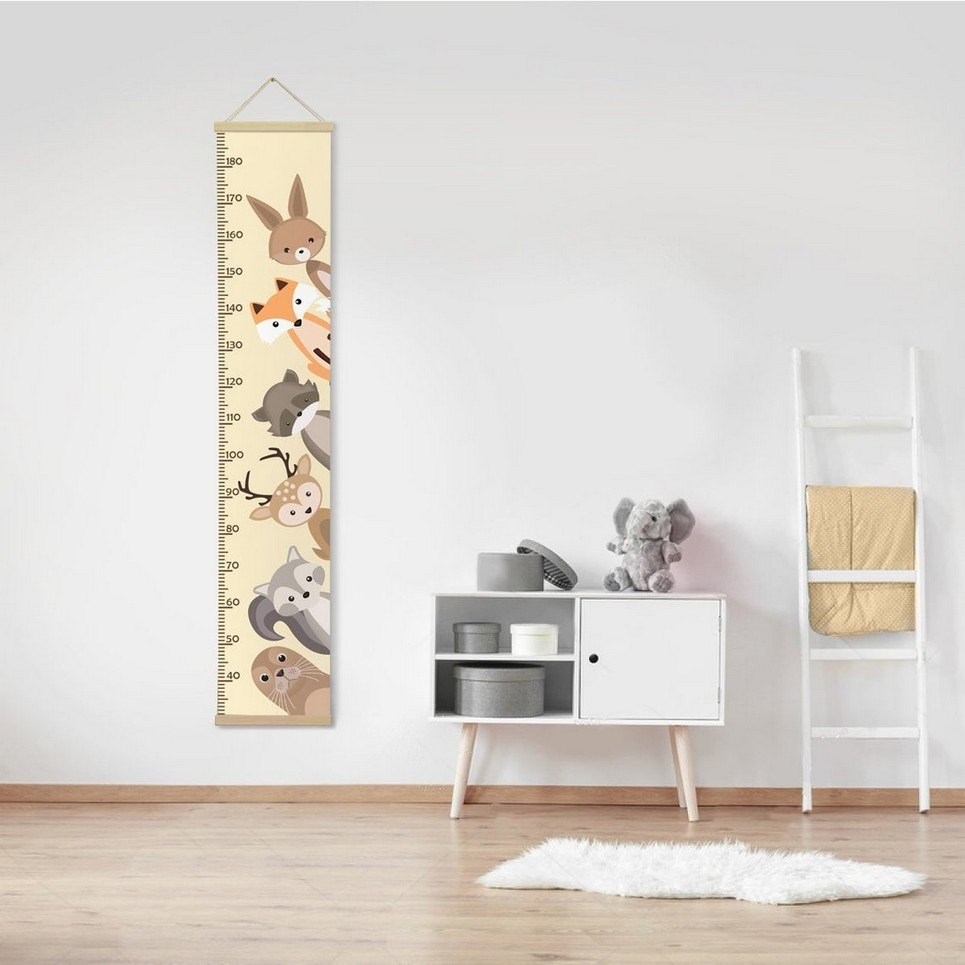 Personalised Cute Animals Child Growth Chart