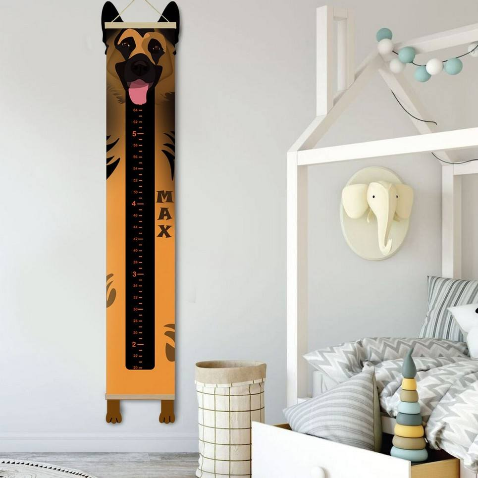 Personalised German Shepherd Child Growth Chart