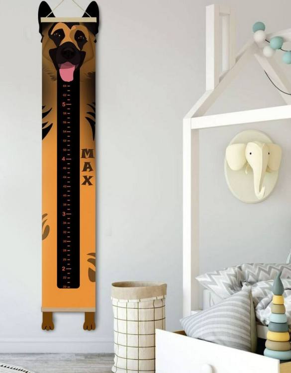 How high are your little creatures? Chart your child's growth development with the Personalised German Shepherd Child Growth Chart. This personalised growth chart will look perfect in your children's bedroom, nursery or playroom.