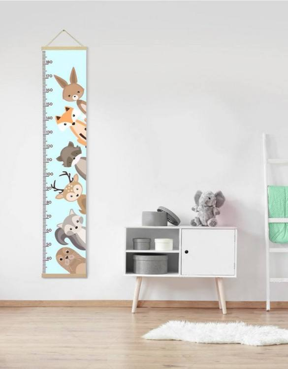 How high are your little creatures? Chart your child's growth development with the Personalised Nursery Animals Child Growth Chart. This personalised growth chart will look perfect in your children's bedroom, nursery or playroom.