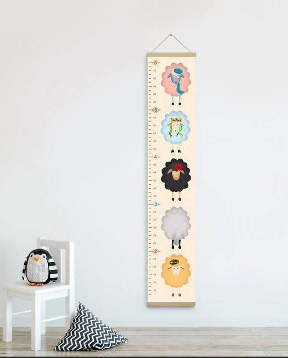 How high are your little creatures? Chart your child's growth development with the Personalised Sheeps Child Growth Chart. This personalised growth chart will look perfect in your children's bedroom, nursery or playroom.