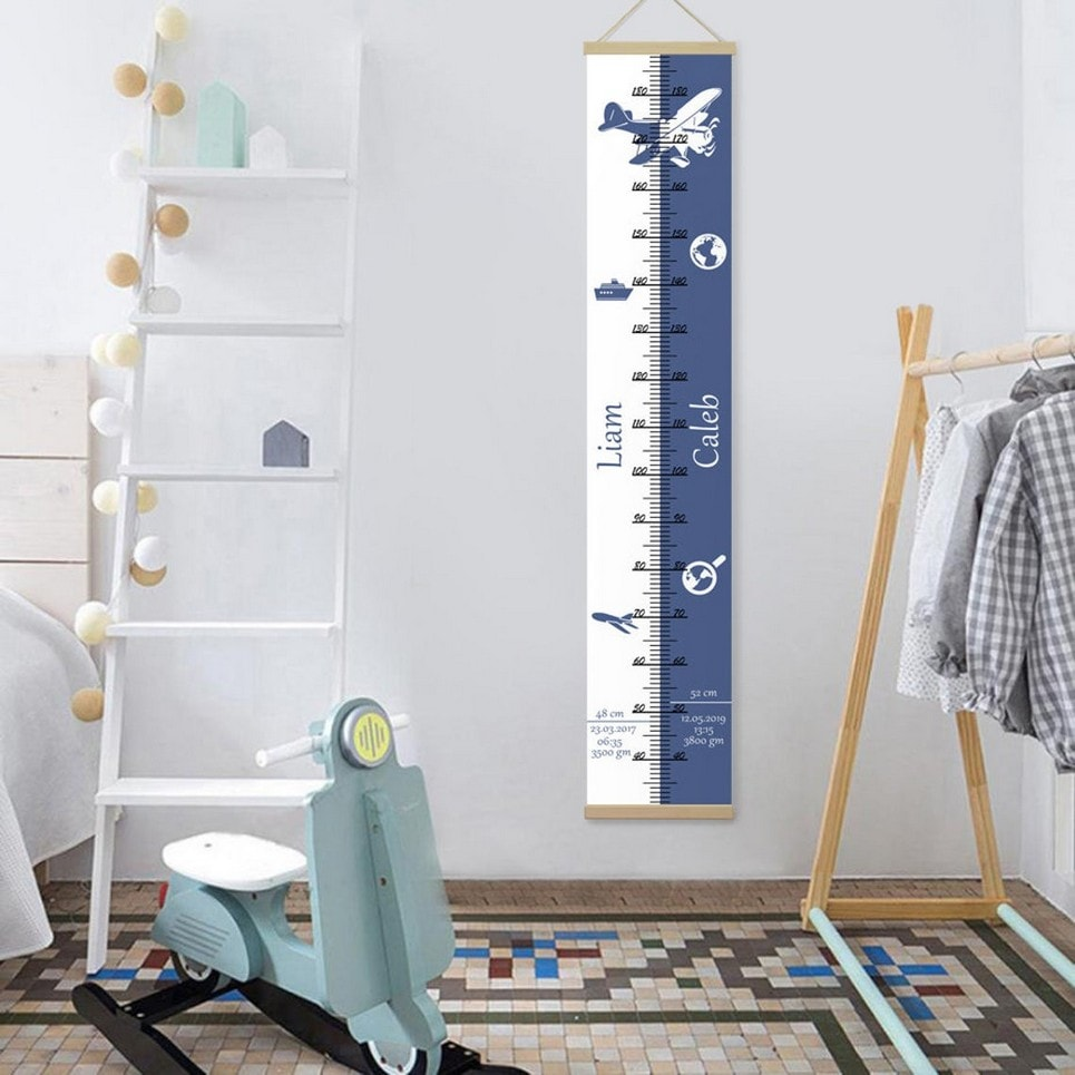 Personalised Travel Twins Growth Chart-min