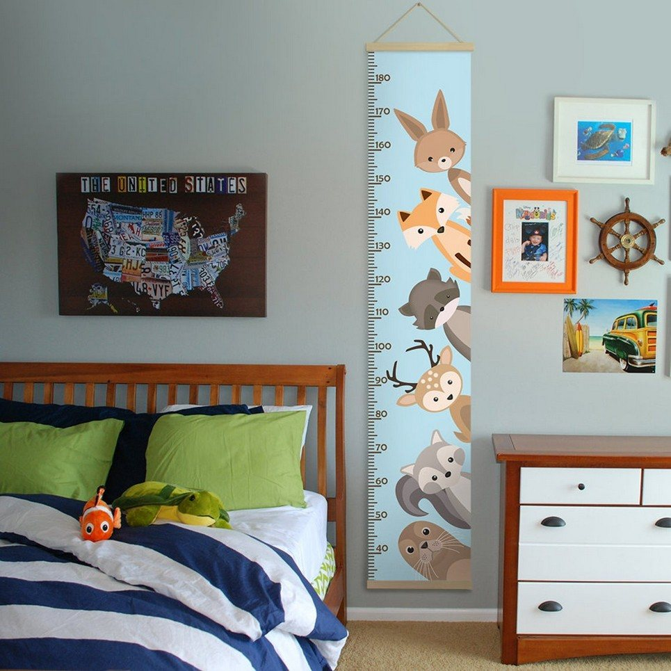 Personalised Zoo Animals Child Growth Chart