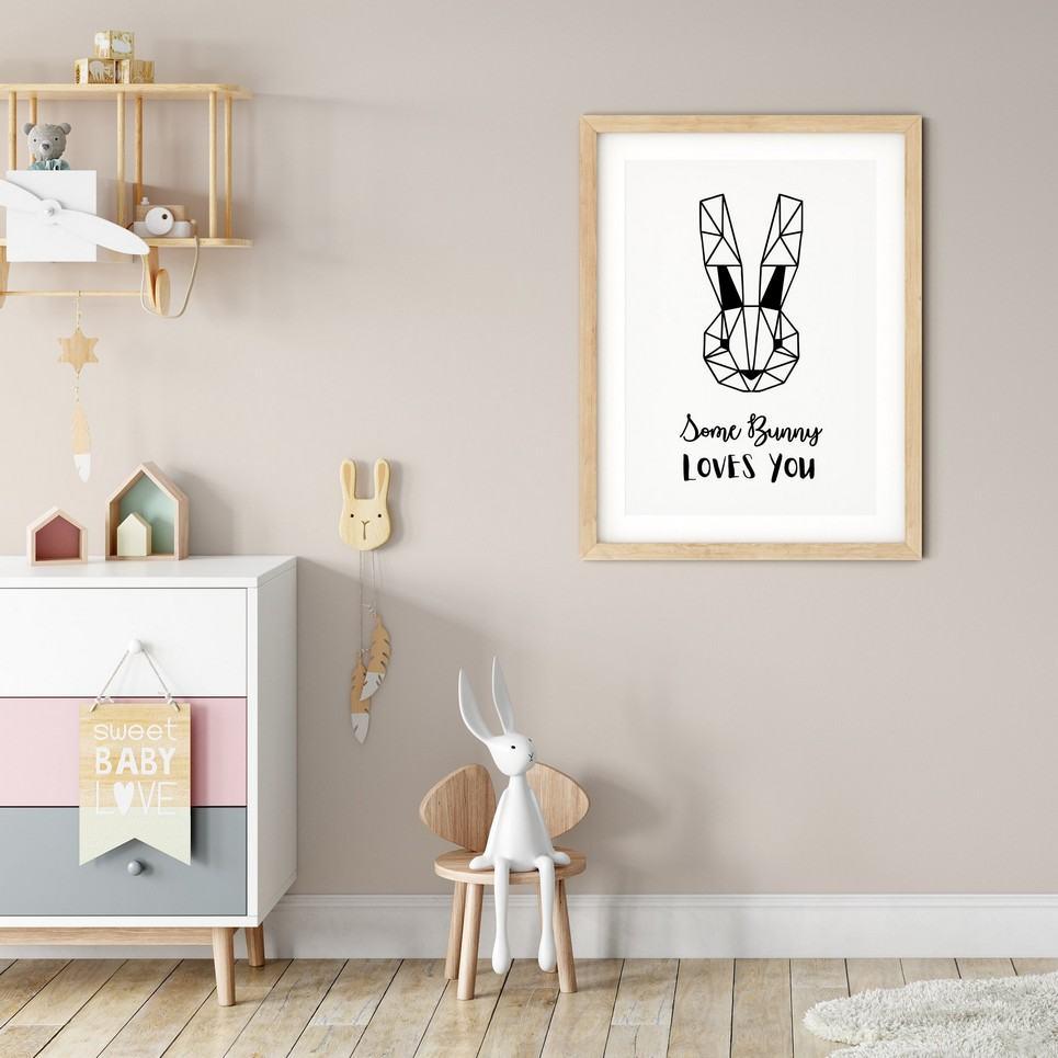 Some Bunny Loves You Nursery Print