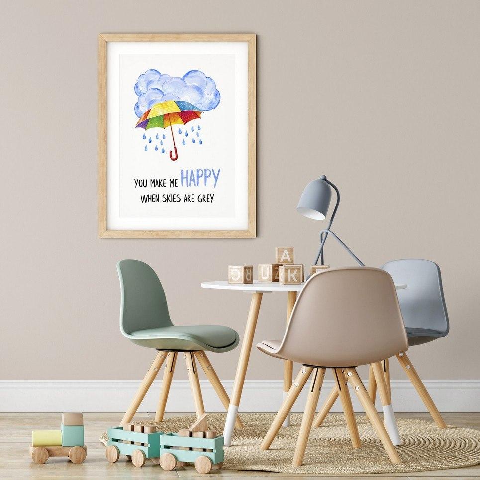You Make Me Happy Nursery Print