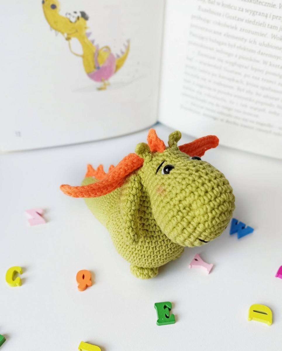 Hand Knitted Baby Dragon Children's Plush Toy