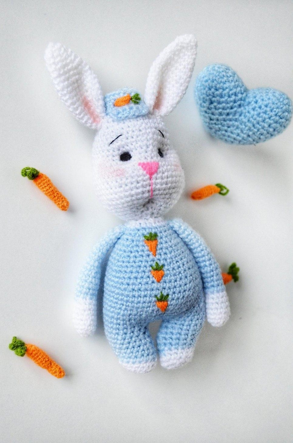 Hand Knitted Easter Bunny Children's Plush Toy
