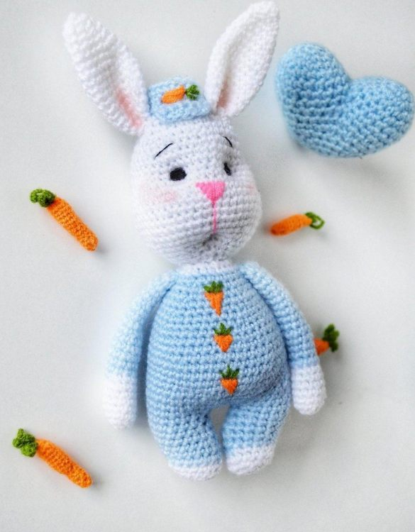 Strong and courageous, the Hand Knitted Easter Bunny Children's Plush Toy will watch over your little one each night and be by their side through every adventure. A friend for life.