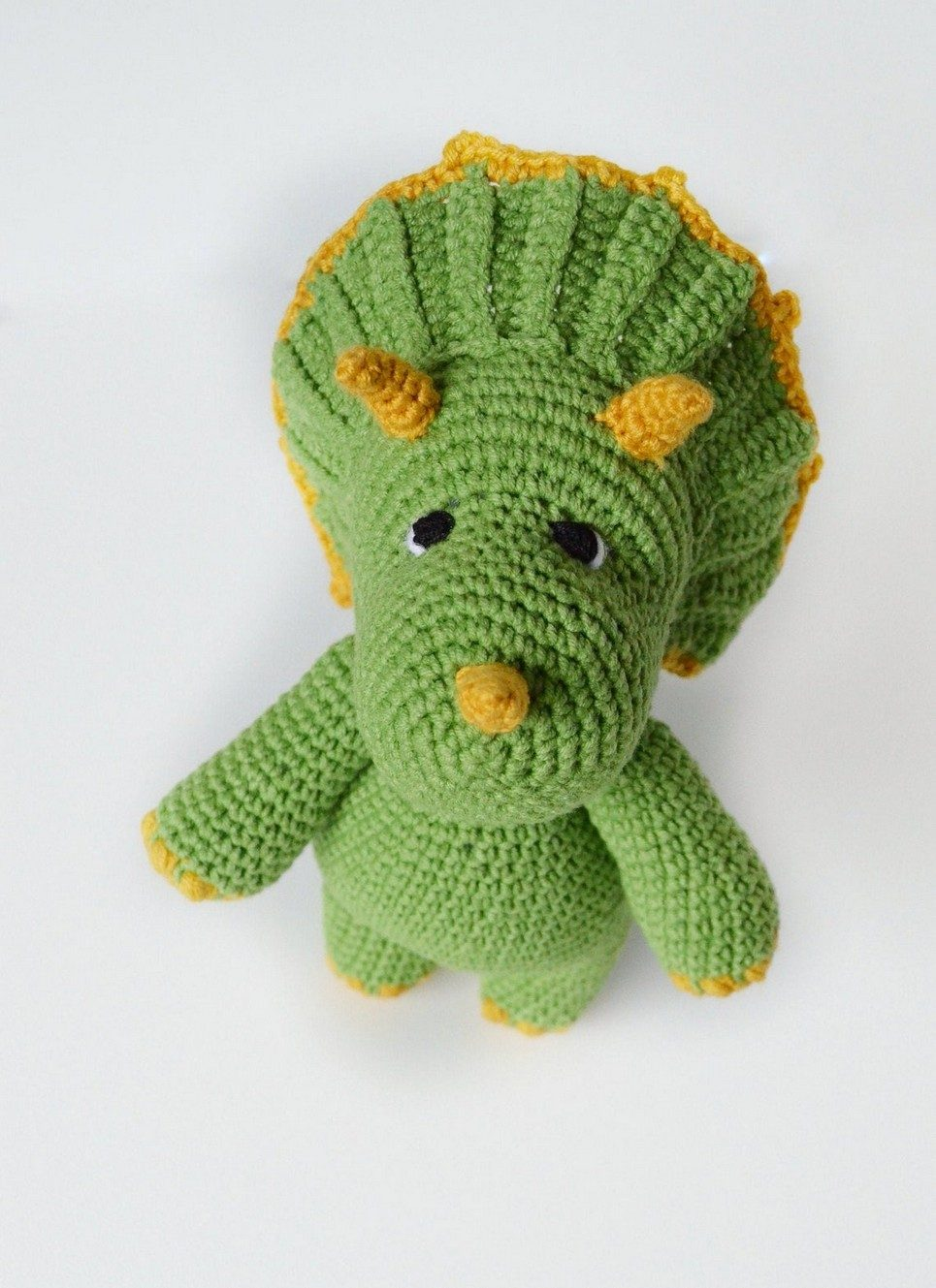 Hand Knitted Triceratops Children's Plush Toy – 2