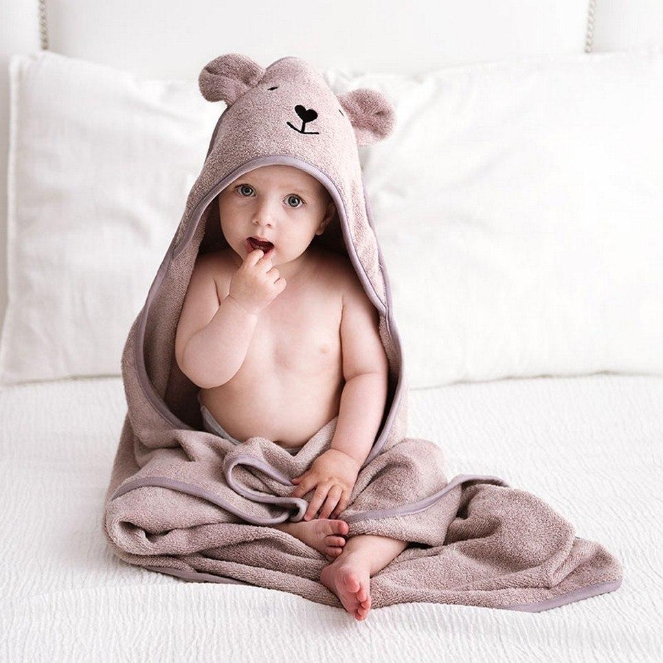 Latte Bamboo Hooded Baby Bath Towel