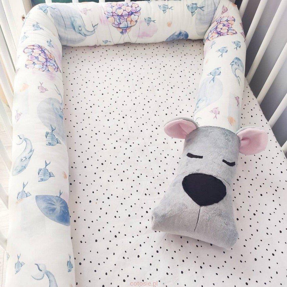 Bear Imagination Grey Cot Bumper
