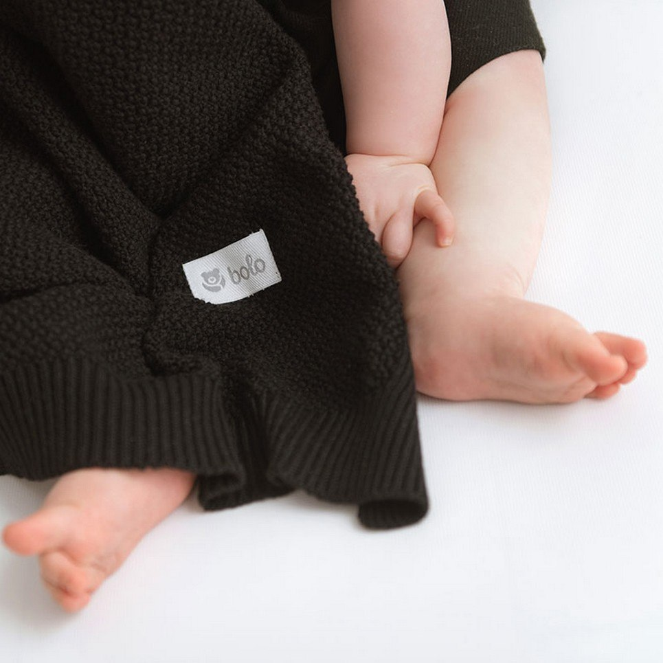 Black Baby Cotton Blanket