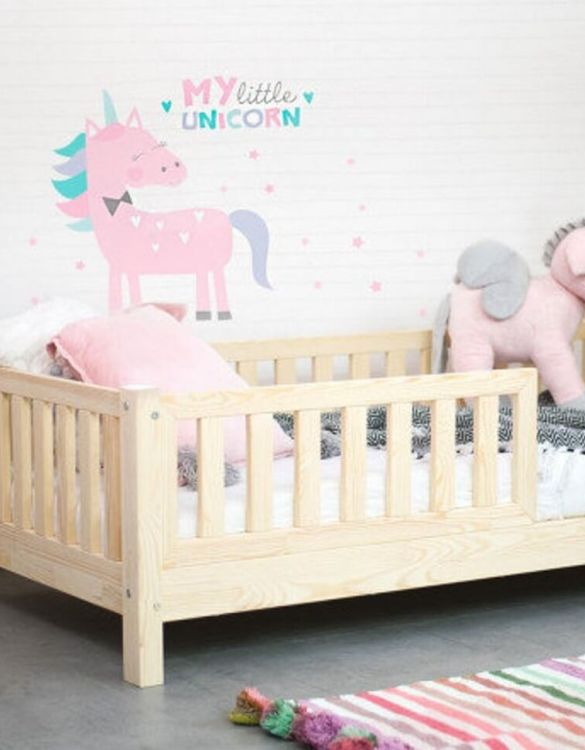 Turn bedtime into a magical adventure with the Children Bed with Barriers. An amazing Montessori bed for children where they can sleep and play.