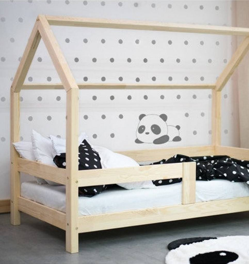 Children House Bed with Take Off the Safety Barriers